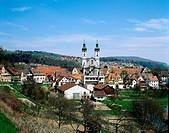 geography / travel, Germany, Baden_Wuerttemberg, Zwiefalten, city views, cityscape look at the town, minster, church, late baroque, Baden Wuerttemberg...