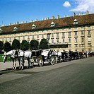 geography / travel, Austria, Vienna, cab in front of the old court castle, UNESCO, World Heritage Site,