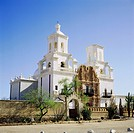 Geo., USA, Arizona, Tucson, San Xavier Mission,
