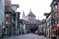 Geo., BRD, Baden - Württemberg, Rottweil, mittelalterliches Stadtzentrum, schwarzes Tor,  zentrum mittelalter