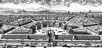 Frankreich hist.- Städte, Paris, Plätze, Place de  France, entworfen von König Heinrich IV. (reg. 1589 - 1610), zeitgenössischer Kupferstich von Jean ...