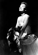 Film, ´Die wunderbare Macht´ (Magnificent obsession), USA 1954, Regie: Douglas Sirk, Szene mit: Jane Wyman und Rock Hudson,  liebespaar, umarmung,