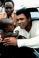 Film ´When We Were Kings´ Dokumentarfilm über Muhammed Ali, USA 1996/97, Regie: Leon Gast, Szene mit Muhammed Ali und NIPs cassius clay, muhammad, box...