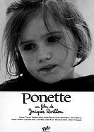 Film, ´Ponette´, F 1996, Regie: Jacques Doillon, Szene mit: Victoire Thivisol,   Portrait,mädchen,kleines kind,traurig schauend,blickend,