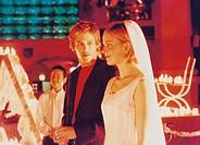 C Film, ´Schlaraffenland´, BRD 1999, Regie Friedemann Fromm, Szene mit Ken Duken, Tom Schilling & Susanne Bormann,  hochzeit, braut, brautpaar, spiele...