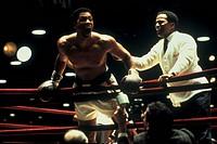 Film, ´Ali´, USA 2001, Regie Michael Mann, Szene mit Will Smith & Jamie Foxx,   drama, sportlerfilm sportfilm, Will Smith als Cassius Clay Cassius X M...