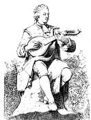 Bellman, Carl Michael, (1740-1765), schwed. Dichter & Sänger,