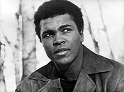 Clay, Cassius (seit 1965 Muhammad Ali)  * 17.1.1942, US Boxer, Weltmeister im Schwergewicht 1964 - 1967, 1970/1971 Portrait um 1970 Mohammed, Mohammad...