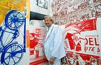 Robert Rauschenberg, American painter, 1996