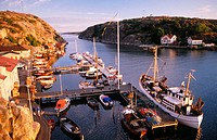 Havstenssund fishing port. Bohuslän. West coast of Sweden