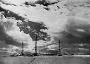 Byrd, Richard E., 25.10. 1888 - 11.3.1957, US Admiral & Polarforscher, ´Klein Amerika´ - Lager und Funksation der Expedition an der Walfischbay der Rö...