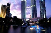Kuala Lumpur City Centre at night, Malaysia
