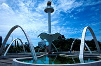Fountain in town square, Alor Setar, Kedah, Malaysia