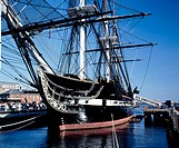 USS Constitution, the world's oldest commissioned warship afloat. Boston Harbor. Massachusetts, USA