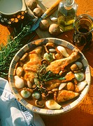 Coq au vin with Pearl Onions