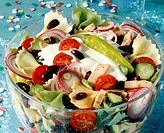 Pasta salad for the New Year´s Eve party