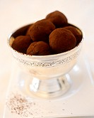 Marzipan balls with cocoa