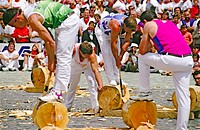 Basque rural sport. San Fermin. Pamplona. Spain