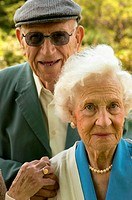 Portrait of older couple