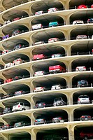 Marina City, circular parking garage. Chicago. Illinois, USA
