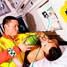 Patient receiving oxygen