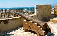 Old royal cannon at La Suda castle. Tortosa. Tarragona province, Spain