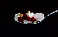 capsules, medicine, medicines, Spoon, symbol, tablets, pills
