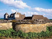 Castle and vineyards, Clos Vougeot. Burgundy. France