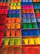 Variety of Dyes in Boxes, Pashupatinath, Kathmandu, Nepal