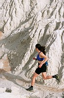 Trail running. Grand Staircase-Escalante National Monument. Utah. USA