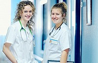Nurse students at hospital