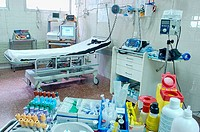 Resuscitation room at emergency area of hospital