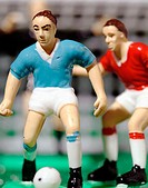 Soccer figurines: offense, defense and goalie
