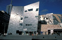 Australia, Federation Square, Melbourne, Victoria, people, modern, passerby, architecture, building, culture, multip