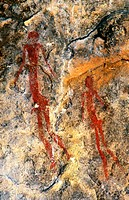 Rock painting, Great Limpopo Transfrontier Park, South Africa