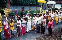 A religious festival, Bali, Indonesia