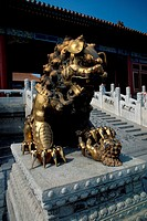 Lion statue, Imperial Palace, Beijing, China