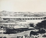 Photograph by D S George, one of a series showing the building of the Aswan Dam. In the late 19th century, the growth of population and agricultural p...