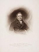 Engraving made in 1816 of John Playfair (1748-1819) who in 1785 became joint Professor of Mathematics at Edinburgh. In 1805, Playfair changed appointm...