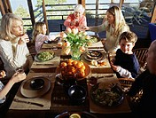Family Enjoying Healthy Meal