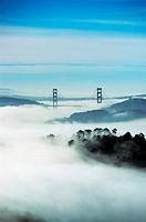 Fog Shrouding San Francisco, California