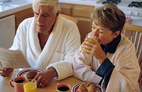 Couple Eating Breakfast