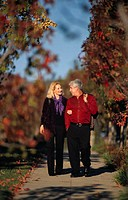 Couple On An Autumn Walk