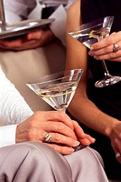 classic martinis at the dinner party
