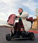 Agressive Senior Woman Speeding