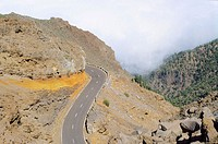 Road. Caldera de Taburiente National Park. La Palma. Canary Islands. Spain