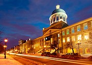 Bonsecours Market (Marche Bonsecours) in the Old Port of Montreal (Vieux Port de Montreal).  The Market was inaugurated in 1847 but today functions ma...