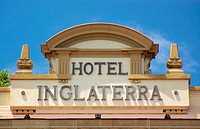 Hotel Inglaterra facade. The hotel dates from 1875. Havana, Cuba