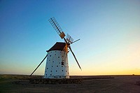 Windmill in Roque, near El Cotillo. Fuerteventura. Canary Islands. Spain