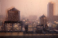 city, disc, Downtown, Manhattan, drop, New York, rain, roofs, slice, town, USA, America, United States, water, water